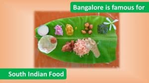 Bangalore is famous for South Indian Food