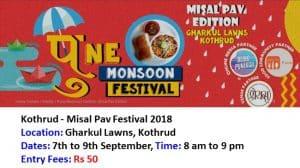 Kothrud -Misal Pav Festival 2018