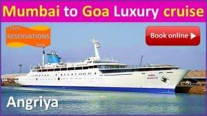 online booking Mumbai to Goa Luxury cruise angriya