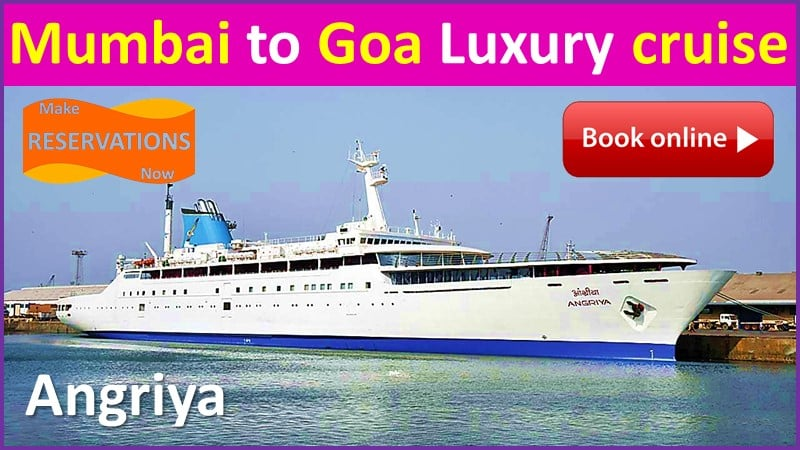 online booking Mumbai to Goa Luxury cruise angriya