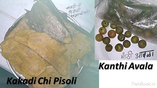 Kakadi Chi Pisoli and Kanthi Avala - wild vegetables in india