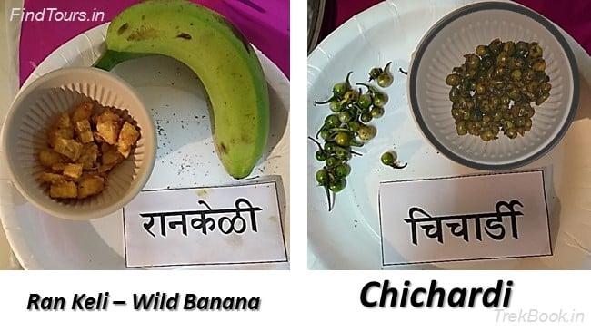 Ran Keli – Wild Banana and Chichardi - wild vegetables in india